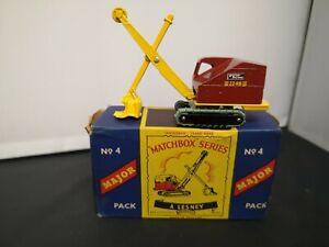 T322-MATCHBOX MAJOR PACK No4 RUSTON BUCYRUS AND ORIGINAL BOX