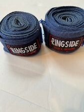 """Pair of Two Ringside Traditional Boxing Hand Wraps Juniors 120"""" - Blue"""