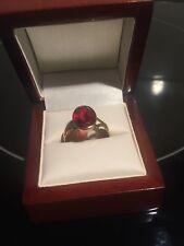 22ct Gold Vintage Ladies Red Stone Ring.