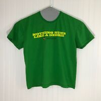 John Deere Men's XL Short-sleeved Green T-shirt Nothing Runs Like a DEERE