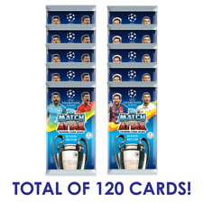2017-18 TOPPS MATCH ATTAX CHAMPIONS LEAGUE 10 PACKS + 6 PROMO PACKS = 120 CARDS