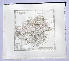Dépt 44- Atlas du Royaume de France Rare Carte Loire Atlantique Aquarellée 1824