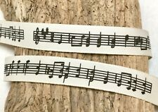 15mm Music Notes Ribbon - Musical Score - Music Teacher Gift Wrap - Music Crafts