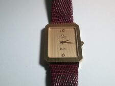 Milus quartz 830.004 yellow/gold watch Lizard Leather 17mm, Swiss Made, engraved