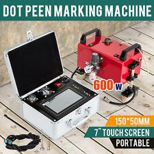 Pneumatic Dot Peen Pin Marker Machine For Large Metal Parts Marking 150*50mm220V