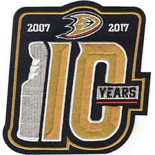 Anaheim Ducks 2007 Stanley Cup Finals Champions 10th Anniversary Patch 2017