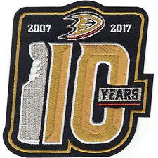 Anaheim Ducks 2007 Stanley Cup Finals Champions 10th Anniversary Patch 2017
