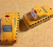 Salt & Pepper Shakers..Yellow Taxi Cabs