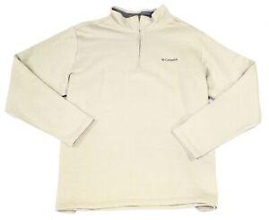 Columbia Men Sweater Beige Size 2XL Great Hart Mountain 1/2 Zip Pullover $65 270