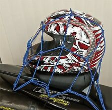 Cargo Net Stretch BLUE Bungee Cords Motorcycle Cruiser Chopper Harley Davidson