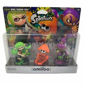 Nintendo Amiibo Splatoon Series 3-Pack Alternate (Alt) Colors - Orange Squid NEW