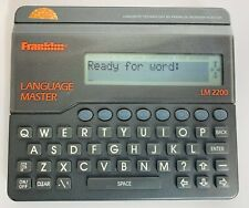 Franklin Language Master Model Lm-2200 Dictionary/Thesaurus Words Tested & Works