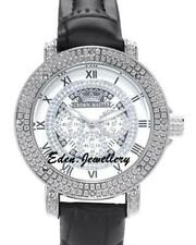 CROWN MASTER Ladies Watch Genuine Diamond Interchangeable Leather Straps SALE
