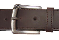 """ARMOURDILLO ~ Brown Action Leather """"STAPLE"""" BELT 1.5 WIDE Small 27 28 29 30 31 S"""