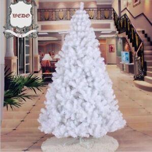 WHITE TREE :1.8m/6ft White Artificial Christmas Tree Xmas 180 cm 6 feet PVC