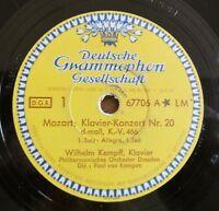 "Mozart - Klavier-Konzert Nr. 20 - Kempff - Schellack - /12"" 78 RPM"