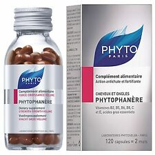 PHYTO PHYTOPHANERE Hair Nails 120 capsules 2 Months STRENGTH GROWTH VOLUME Paris