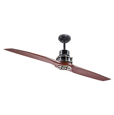 "2-Blade 56"" Large Airplane CEILING FAN + REMOTE Unique Pewter Contemporary Cabin"