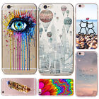 Patterned Soft TPU Case Cover Phone Shell Fit iPhone 4 5 5C 6 7 PLUS SE 6S SE 5S