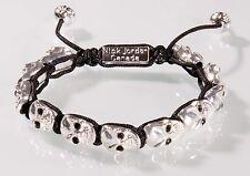 silber Totenkopf Armband Bracelet Kristall Unisex Lilie NEU OVP Nick Jordan