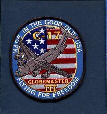 C-17 GLOBEMASTER II USAF MAS AS Airlift Lockheed Squadron Jacket Patch