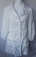 Guess Jeans Womens Medium Trench Coat White