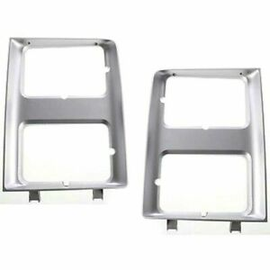 New Set of 2 Left & Right Side Headlight Doors/Bezels For Chevy Blazer 1987-1988