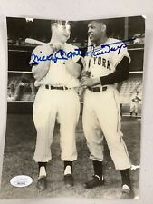 Mickey Mantle Signed Photo With Willie Mays JSA LOA Autograph Yankees Baseball
