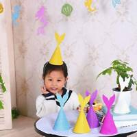 10 pcs Mermaid Tail Hat Birthday Party Decor Paper Craft Caps Children  t