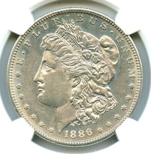 1886-S Morgan Dollar, NGC AU58