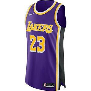 LeBron James Lakers Statement Edition Nike NBA Authentic Jersey  (Purple) AJ5197