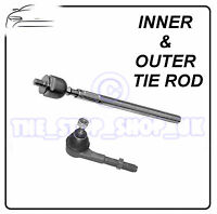 Peugeot 206 & 206+ 98-09 LEFT Inner & Outer Tie Rod End Steering Track Rod