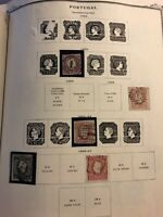Early PORTUGAL Stamp Collection 1855 to 1924 12 Pages Accumulation Collection