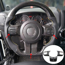 For Jeep Grand Cherokee 2011-2013 Carbon Fiber Steering Wheel Button Cover Skin