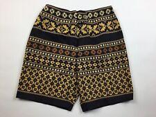 Vintage 70's Eastmoor Women's shorts Tweed Boho High Rise Cotton Bermuda T33