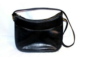 COACH Vintage Black Leather Classic Hobo Spectator Legacy Made In The USA Purse