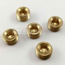 "5pcs 1/4""NPT Brass Internal Thread Socket Pipe Plug"
