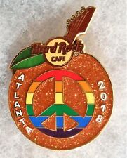 HARD ROCK CAFE ATLANTA PEACH WITH RAINBOW COLORED PEACE SIGN PRIDE PIN # 98474