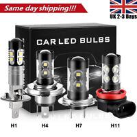 H3 H1 H4 H7 H11 100W LED Fog Lights Bulbs Driving Lamp DRL 15000LM 6000K White