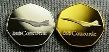 Pair of BRITISH AIRWAYS, CONCORDE Commemoratives. Albums/Collectors. Air France