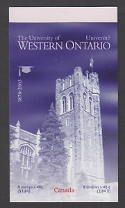 CANADA BOOKLET BK268a 48c x 8 THE UNIVERSITY OF WESTERN ONTARIO, GLUED FLAP
