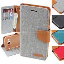 Funda móvil teléfono con tapa tipo libro Carcasa Monedero Bumper Canva semi piel