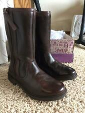 Clarks Girls Boots Size 1.5 - Brown Leather Ines Rain Jnr Box Euc