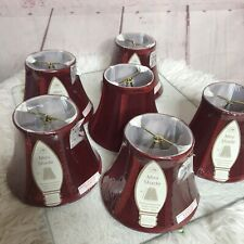 Mini Lamp 6 Dark Red Shade Mini Chandelier 5 NWT 1 Open