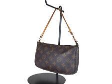 LOUIS VUITTON Pochette Accessoires Monogram Canvas Leather Hand Bag LP3035