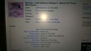 Loft Classics Volume 2 -  david mancuso etc cd disco funk soul etc