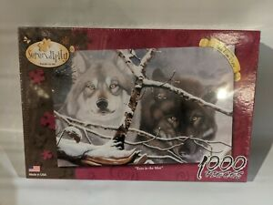 Sealed! 1000 Piece 'Eyes in the Mist' Wolves Serendipity Puzzle