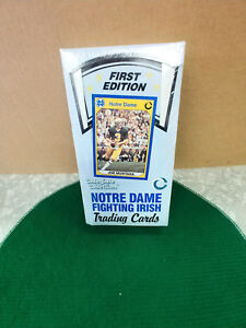 NOTRE DAME FOOTBALL FIRST EDITION COLLEGIATE COLLECTION WITH JOE MONTANIA 36 PAC