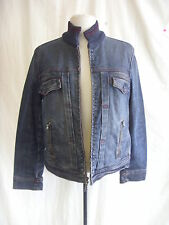 Ladies Coat - G-Star Raw, size L, black cotton lightweight, zip up stylish 1526