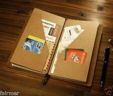 9X5 Standard Kraft Paper Pocket For Midori Travel Note Book Journal Diary Refill